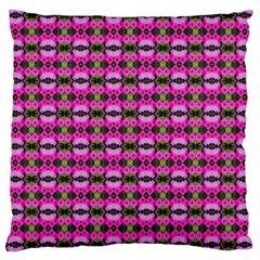 Pretty Pink Flower Pattern Large Cushion Case (Two Sides)