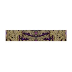 Lace Landscape Abstract Shimmering Lovely In The Dark Flano Scarf (Mini)