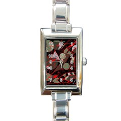 Artistic abstraction Rectangle Italian Charm Watch