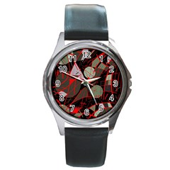 Artistic abstraction Round Metal Watch