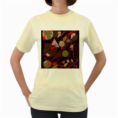 Artistic abstraction Women s Yellow T-Shirt