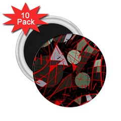 Artistic abstraction 2.25  Magnets (10 pack)