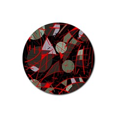Artistic abstraction Rubber Coaster (Round)