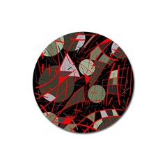 Artistic abstraction Magnet 3  (Round)