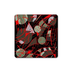 Artistic abstraction Square Magnet