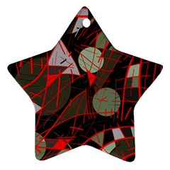 Artistic abstraction Star Ornament (Two Sides)