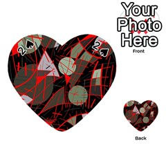 Artistic abstraction Playing Cards 54 (Heart)