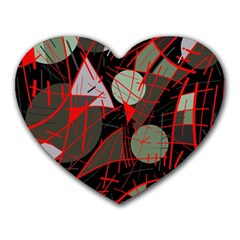 Artistic abstraction Heart Mousepads