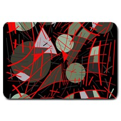 Artistic abstraction Large Doormat