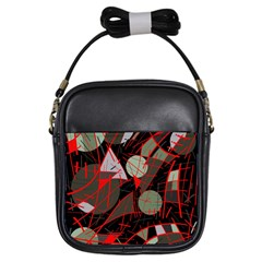 Artistic abstraction Girls Sling Bags