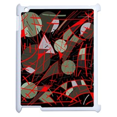 Artistic abstraction Apple iPad 2 Case (White)