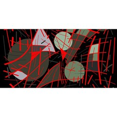Artistic Abstraction You Are Invited 3d Greeting Card (8x4)