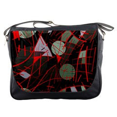 Artistic abstraction Messenger Bags