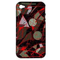 Artistic abstraction Apple iPhone 4/4S Hardshell Case (PC+Silicone)