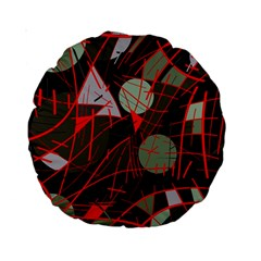 Artistic abstraction Standard 15  Premium Round Cushions