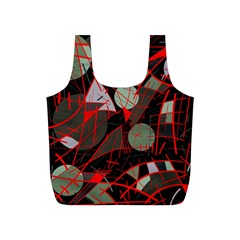 Artistic abstraction Full Print Recycle Bags (S)
