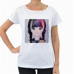 Tapioca Now 2 Women s Loose-Fit T-Shirt (White)