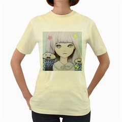 My Little Cloud Women s Yellow T-Shirt