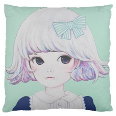 Spring Mint! Large Flano Cushion Case (One Side)