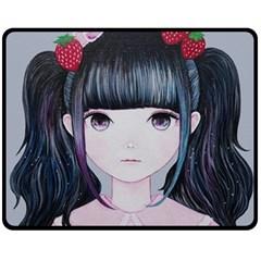 Nakayoshi Strawberry Fleece Blanket (Medium)