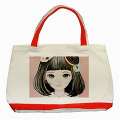 Maybe March<3 Classic Tote Bag (red)