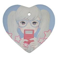 Gamegirl Girl Play with star Ornament (Heart)