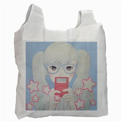 Gamegirl Girl Play with star Recycle Bag (One Side)