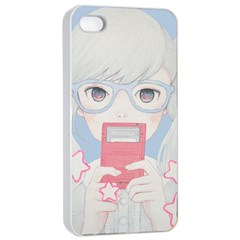 Gamegirl Girl Play with star Apple iPhone 4/4s Seamless Case (White)