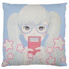Gamegirl Girl Play with star Standard Flano Cushion Case (Two Sides)