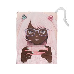 Gamergirl 3 P Drawstring Pouches (Large)