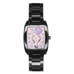 Ricehime Stainless Steel Barrel Watch