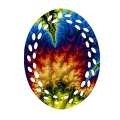 Amazing Special Fractal 25a Oval Filigree Ornament (2-Side)