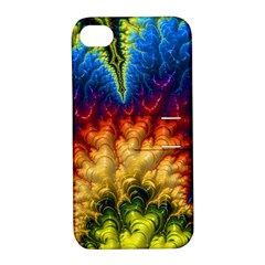Amazing Special Fractal 25a Apple Iphone 4/4s Hardshell Case With Stand