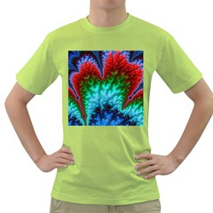 Amazing Special Fractal 25b Green T-Shirt