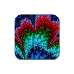 Amazing Special Fractal 25b Rubber Coaster (Square)