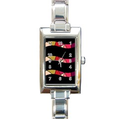 Abstract waves Rectangle Italian Charm Watch
