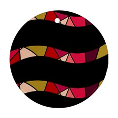 Abstract waves Ornament (Round)