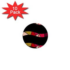 Abstract waves 1  Mini Buttons (10 pack)
