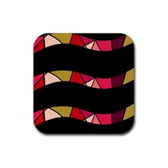 Abstract waves Rubber Coaster (Square)