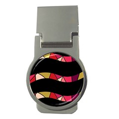Abstract waves Money Clips (Round)