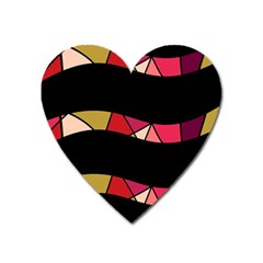 Abstract waves Heart Magnet