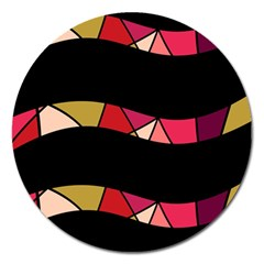 Abstract waves Magnet 5  (Round)