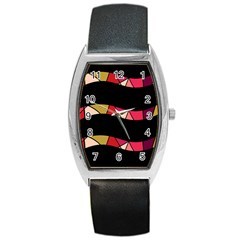 Abstract waves Barrel Style Metal Watch