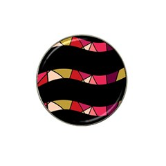 Abstract waves Hat Clip Ball Marker
