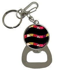 Abstract waves Bottle Opener Key Chains