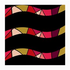 Abstract waves Medium Glasses Cloth (2-Side)
