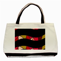 Abstract waves Basic Tote Bag (Two Sides)
