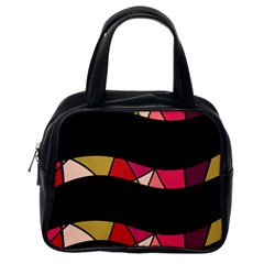 Abstract Waves Classic Handbags (one Side)