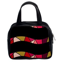 Abstract waves Classic Handbags (2 Sides)