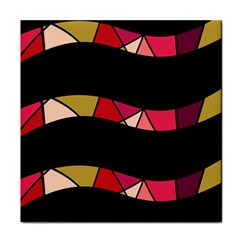 Abstract waves Face Towel